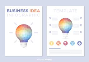 Business Idea Template Vector Infographic