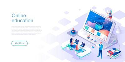 modèle de page de destination pour l'éducation en ligne vecteur