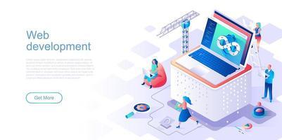 modèle de page de destination de développement Web vecteur