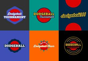 Dodgeball gratuit Badges Vector Pack
