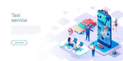 modèle de page de destination de service de taxi vecteur
