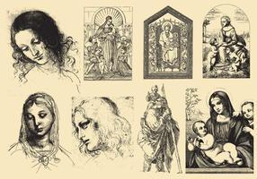 Art Renaissance Et Dessins vecteur