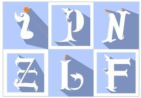 Monogrammes simples vecteur