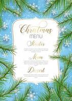 conception de menu de Noël