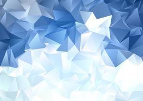 fond abstrait low poly bleu glace vecteur
