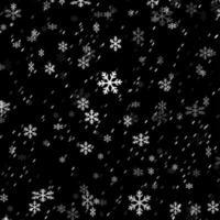superposition de flocon de neige de Noël vecteur