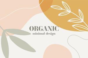 fond abstrait bannière organique minimaliste vecteur