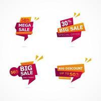 ensemble d'annonces de promotion de grande vente vecteur
