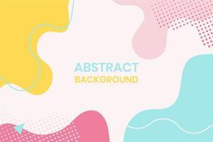 abstrait de formes géométriques organiques colorées vecteur