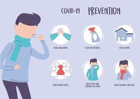infographie de la pandémie de covid 19 vecteur