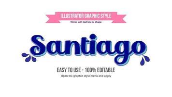 style de texte cursif vintage élégant bleu