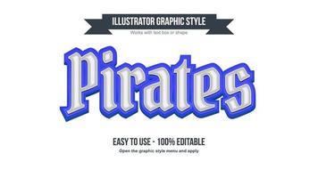 style de texte fantastique d'affichage 3d bleu et blanc vecteur