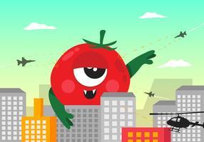Vecteur monstre tomate