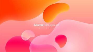 abstrait avec des formes liquides