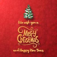 bannière de voeux de Noël
