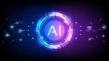 conception d'intelligence artificielle d'hologramme vecteur