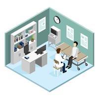 médecin patient isométrique personnes