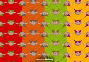 Patterns Vector Seamless Avec espagnol Fan Icons