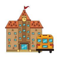 retour au dessin animé de l & # 39; éducation scolaire