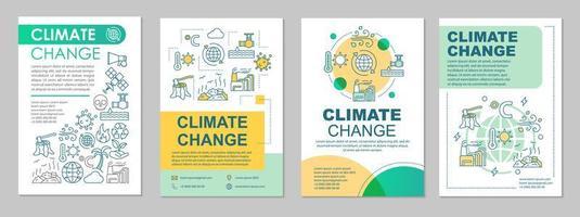 mise en page du modèle de brochure sur le changement climatique vecteur