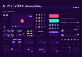 kit d'éléments vidéo ui