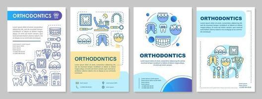 Disposition du modèle de brochure d'orthodontie vecteur