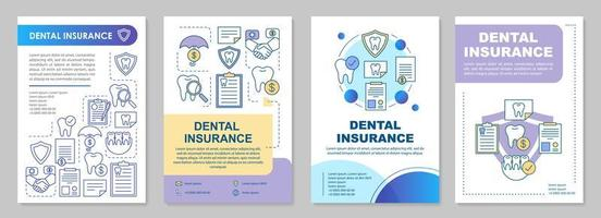 modèle de brochure assurance dentaire vecteur