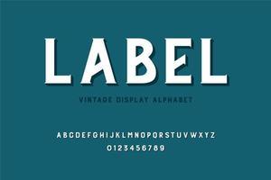 alphabet majuscule d'affichage vintage vecteur