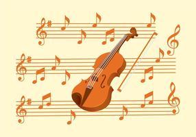 Ensemble de touches de violon vecteur