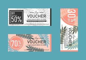 modèles de chèques-cadeaux feuille