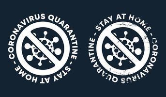 panneau d'avertissement de coronavirus vecteur