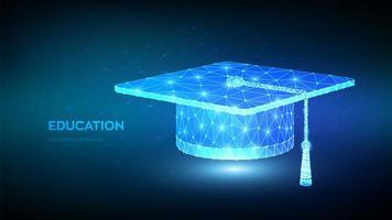 bannière futuriste de l'éducation