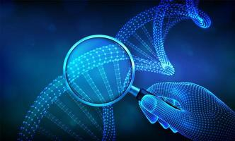 bannière futuriste de concept de génie génétique avec adn
