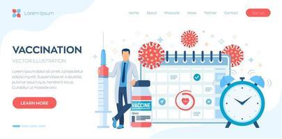 vaccination, bannière de la page d'accueil de la campagne de vaccination