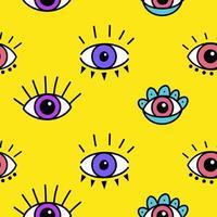 modèle sans couture avec des yeux magiques