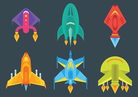 Starship Icônes vecteur libre