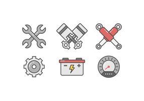Vecteurs de réparation de voitures gratuit vecteur