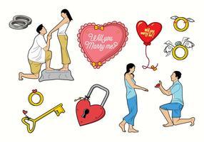Mariage Vecteur libre