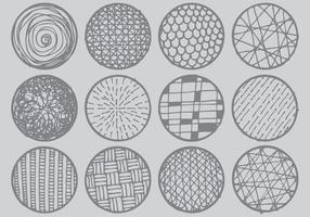 CROSSHATCH-Cercles vecteur