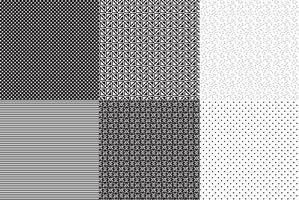 Seamless vecteur noir et blanc Patterns