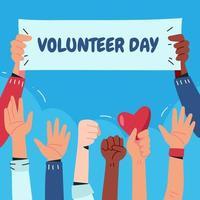 célèbre la journée des bénévoles vecteur