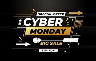 élégant concept de vente cyber lundi