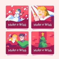 collecte de cartes de Noël et faire un vœu