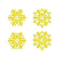 ensemble d'étoiles jaunes
