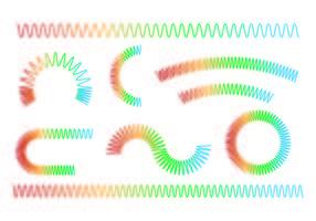 Set Of Slinky Icône vecteur