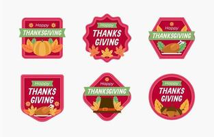 collection d'autocollants de Thanksgiving