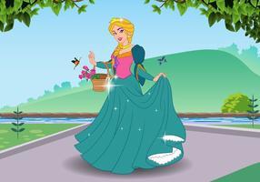 Bella princesa vector