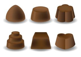 Icônes de chocolat vecteur libre