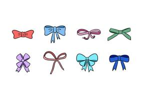 Hair Ribbon Vector Pack