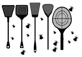 Tapette à mouche vecteurs de forme vecteur